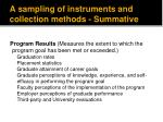 a sampling of instruments and collection methods summative