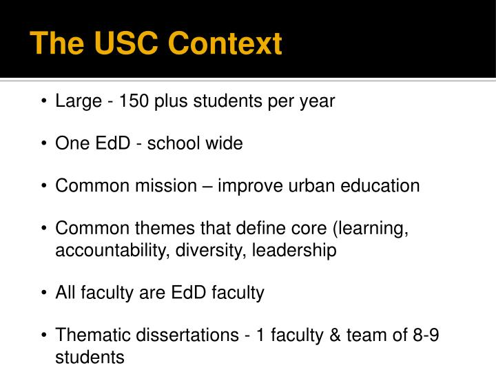 The USC Context