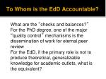 to whom is the edd accountable