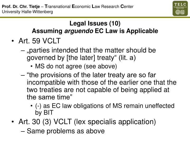Legal Issues (10)