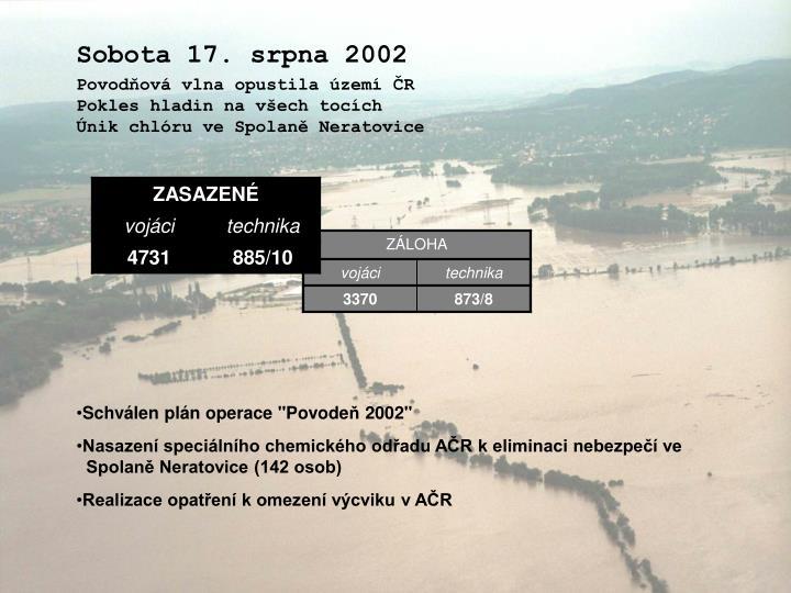Sobota 17. srpna 2002