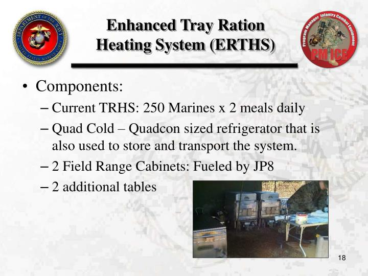 Enhanced Tray Ration Heating System (ERTHS)