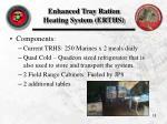 enhanced tray ration heating system erths