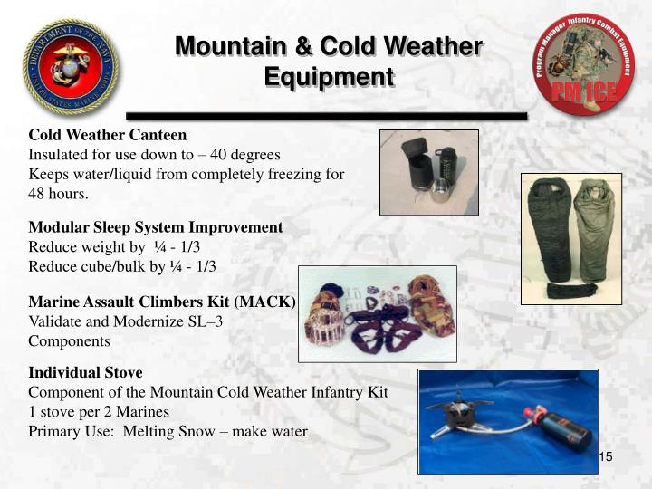 Mountain & Cold Weather Equipment