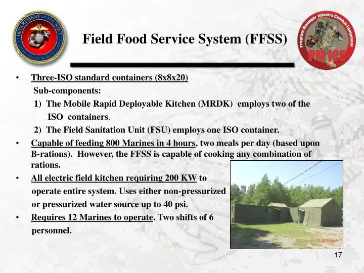 Field Food Service System (FFSS)