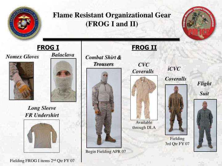 Flame Resistant Organizational Gear