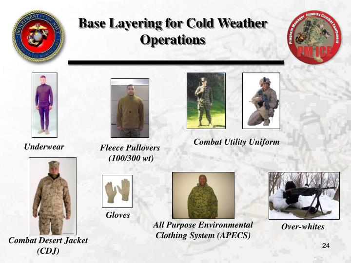 Base Layering for Cold Weather Operations