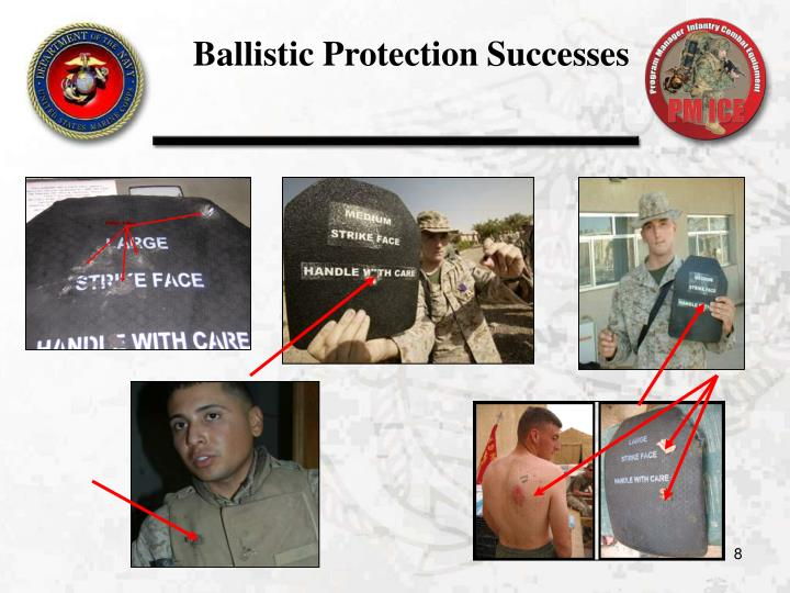 Ballistic Protection Successes