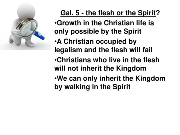 Gal. 5 - the flesh or the Spirit