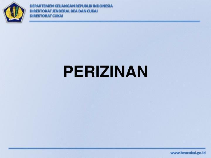 PERIZINAN