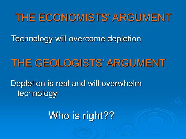 THE ECONOMISTS' ARGUMENT