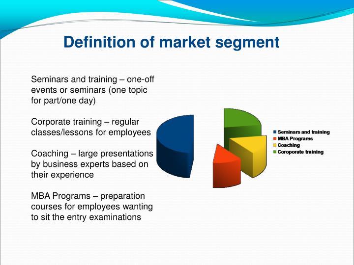Definition of market segment
