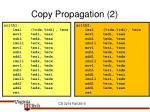 copy propagation 2