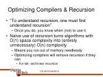 optimizing compilers recursion
