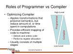 roles of programmer vs compiler1