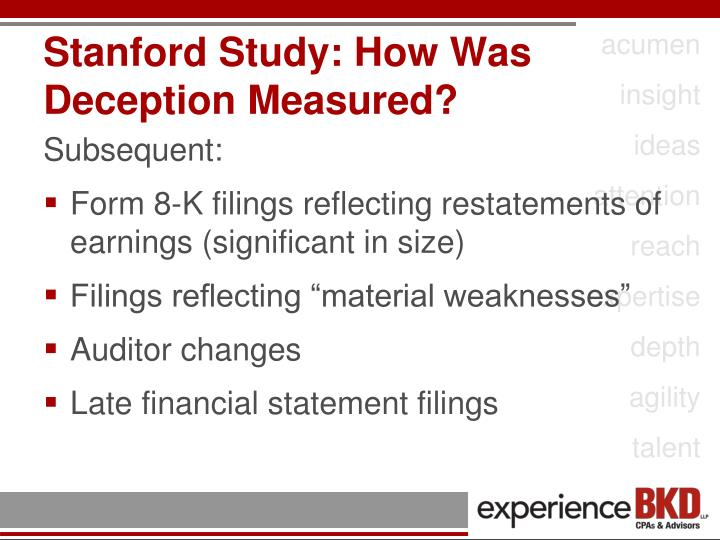 Stanford Study: How Was Deception Measured?