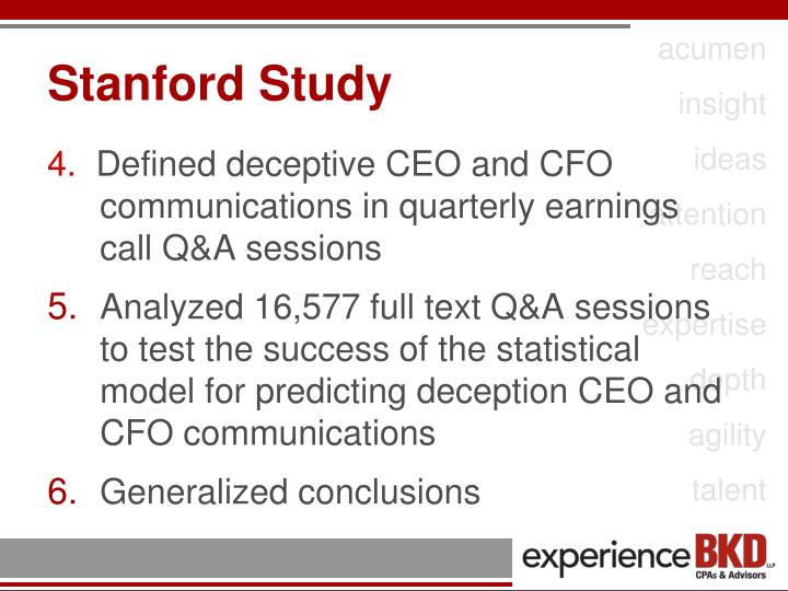 Stanford Study