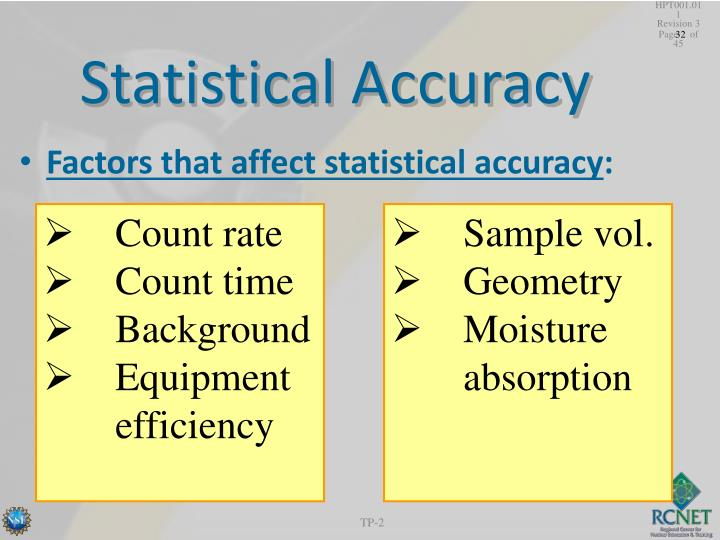 Statistical accuracy