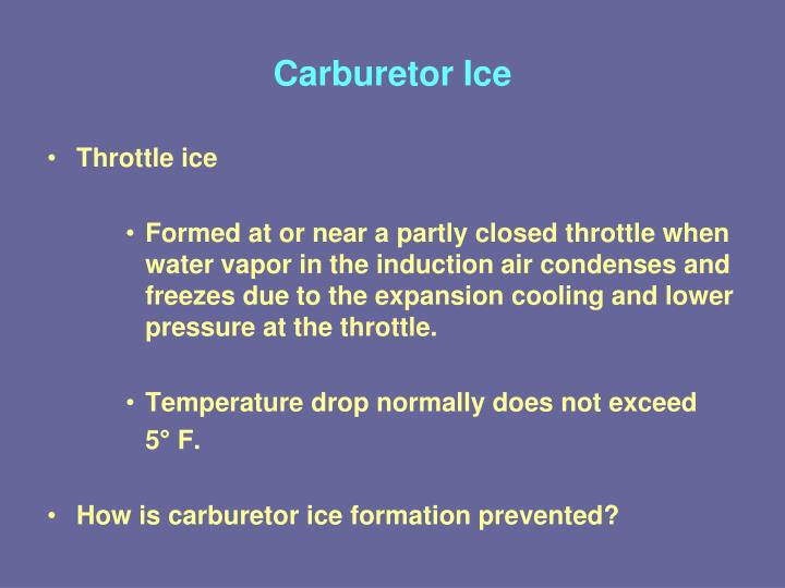 Carburetor Ice
