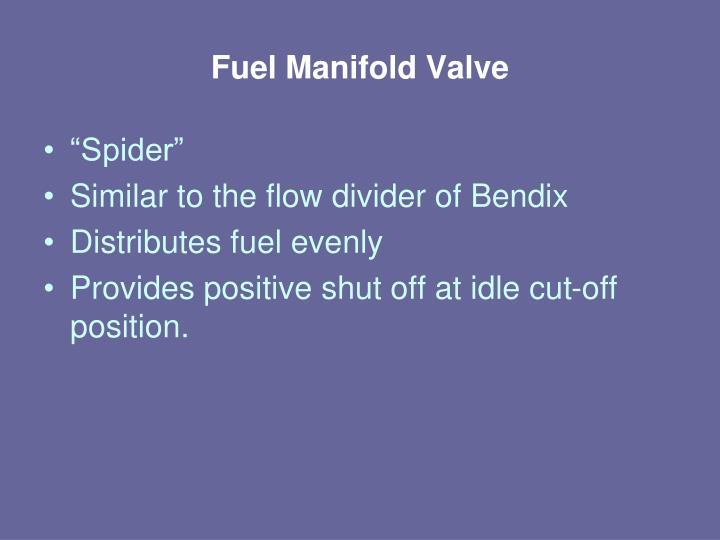 Fuel Manifold Valve