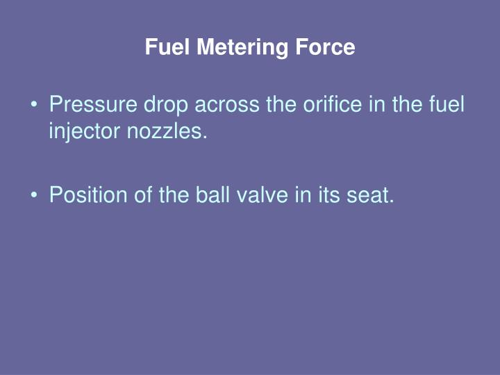 Fuel Metering Force