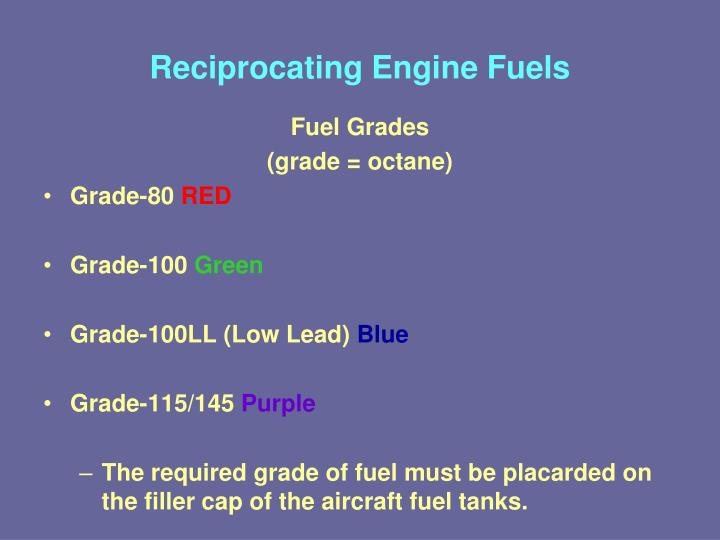 Reciprocating Engine Fuels