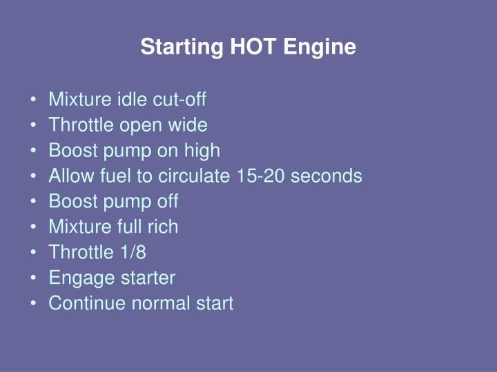 Starting HOT Engine