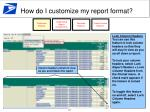 how do i customize my report format1