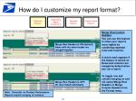 how do i customize my report format2