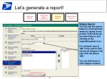 let s generate a report16
