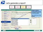let s generate a report17