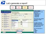 let s generate a report21