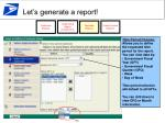 let s generate a report23