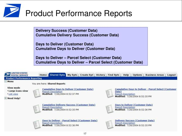 Product Performance Reports
