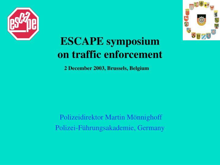 ESCAPE symposium