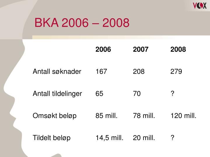 BKA 2006 – 2008