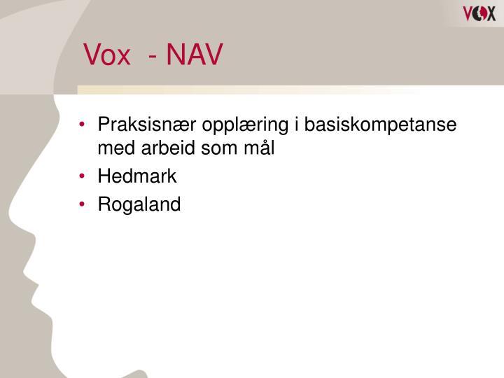 Vox  - NAV