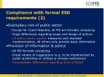 compliance with formal esd requirements 2