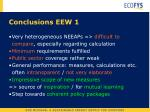conclusions eew 1