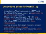 innovative policy elements 1