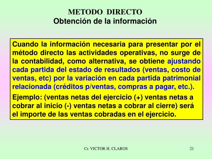 METODO  DIRECTO