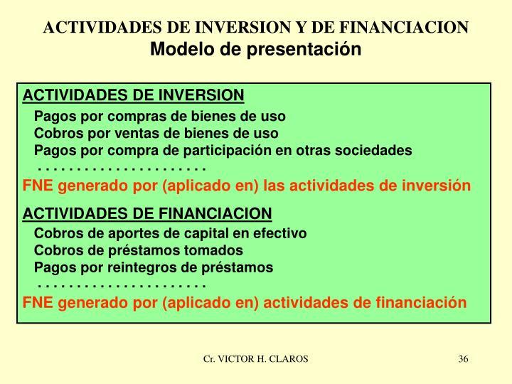 ACTIVIDADES DE INVERSION