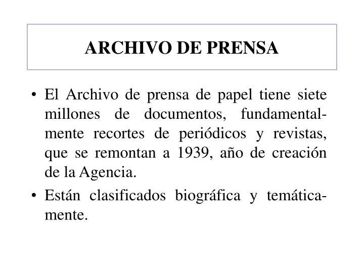 ARCHIVO DE PRENSA