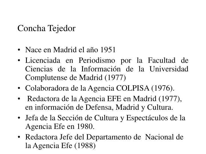 Concha Tejedor