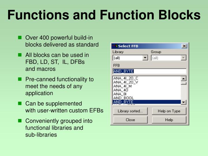 Functions and Function Blocks