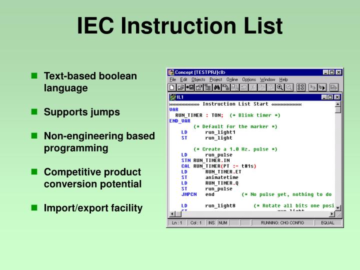 IEC Instruction List