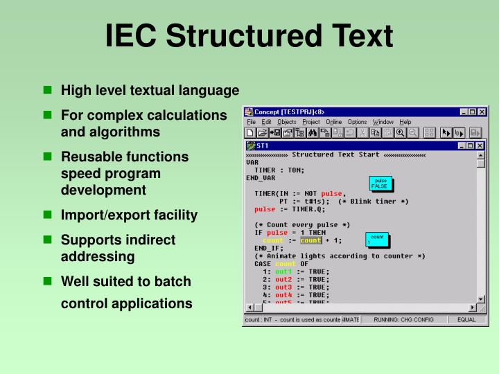 IEC Structured Text