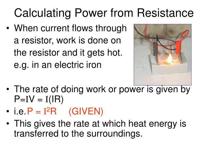 Calculating Power from Resistance