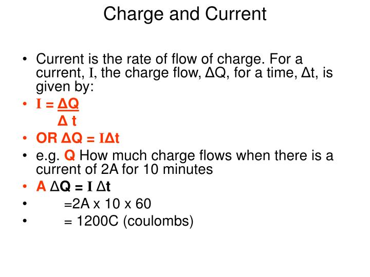 Charge and Current