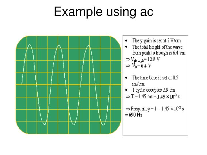 Example using ac